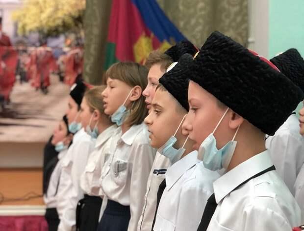 В Красненском ХКО прошла церемония посвящения в казачата