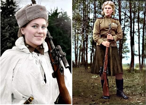 Советские снайперы Великой Отечественной войны