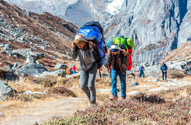 Идти в горы без шерпы в мире, интересно, люди, непал, обычай, правила, путешествие