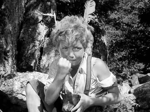 Сережа Тихонов в комедии «Деловые люди», 1962 год. Кадр из фильма