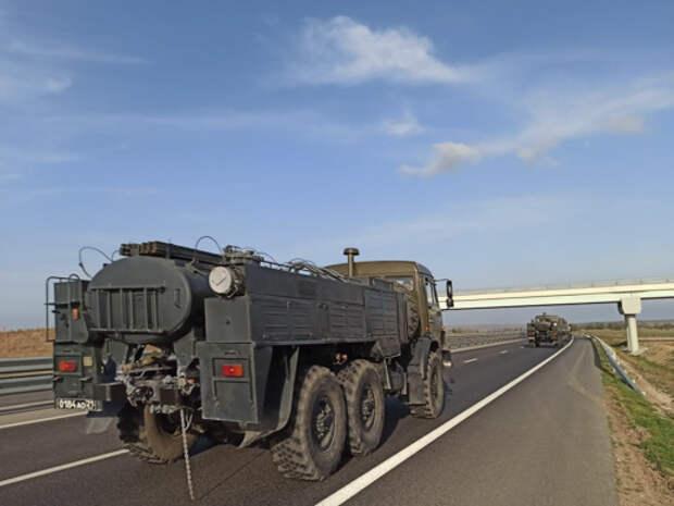Крымские военные поехали в Абхазию бороться с коронавирусом