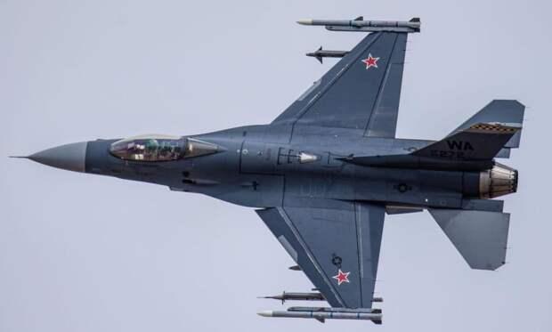 «Российский» истребитель F-16 привлек внимание пользователей Сети