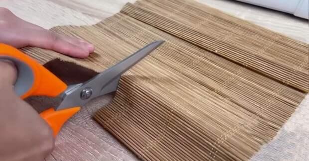 Из бамбуковой салфетки и кусочек ткани: прекрасная идея для порядка и уюта