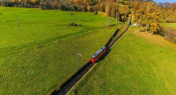Вид с высоты птичьего полета на жемчужину Швейцарии – Люцерн