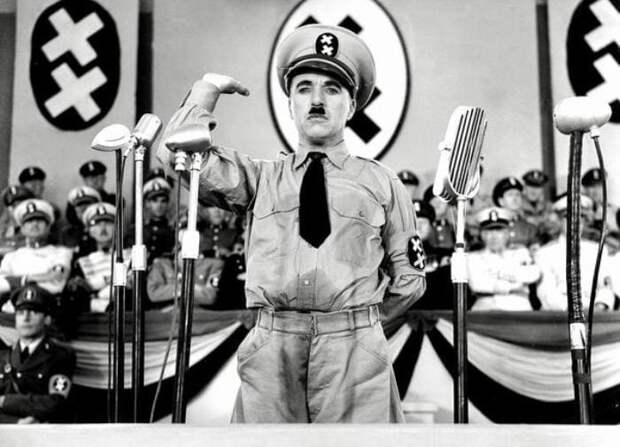 Чарли Чаплин в фильме *Великий диктатор*, 1940   Фото: pikabu.ru
