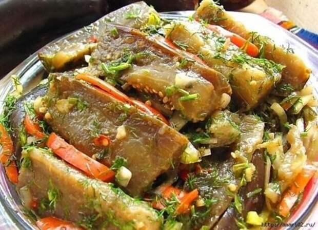 Рецепт маринованных баклажан с чесночком, перцем и зеленью