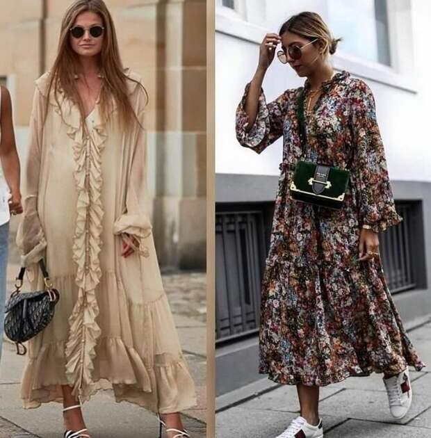 Платье-балахон: как носить и кому подойдет