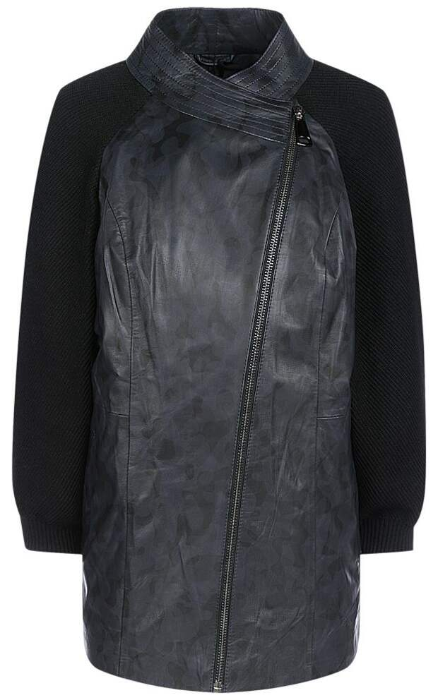 Кожаные куртки с трикотажными рукавами