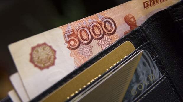 Кошелёк, Рубли, Рубль, Россия, 5000 Рублей, Купюры