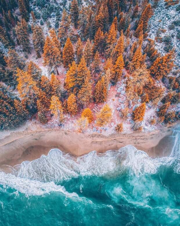 Многообразие природных ландшафтов в красочных аэрофотографиях Ниязза Уддина