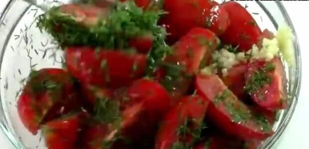 Закуска из томатов за15 минут. Делаю интересную закуску вместо надоевшего салата