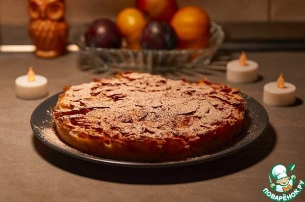 Немецкий яблочный пирог на кислом молоке