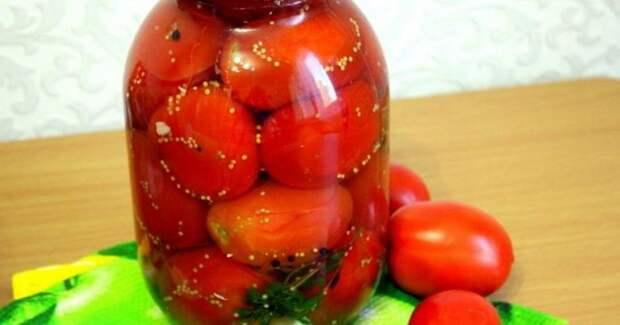 Маринованные помидоры с горчицей в зернах