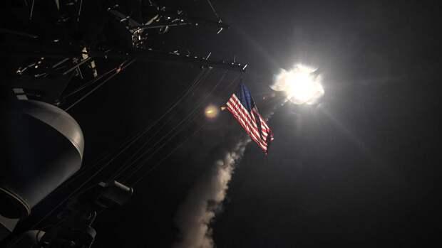 ВМС США наносят удар по Сирийской авиабазе крылатыми ракетами томагавк