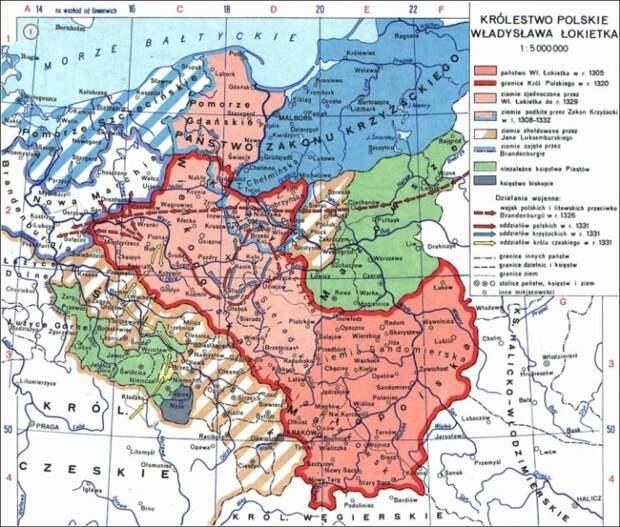 Польское королевство времён Владислава Локотка (1306–1333 годы). mokrzyccy.pl - Пиррова победа крестоносцев | Warspot.ru