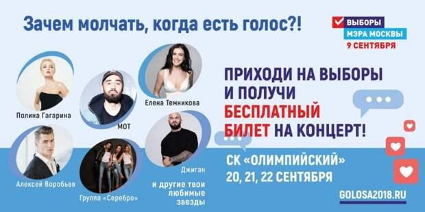 Акцию в Москве «Зачем молчать, когда есть голос?!» проведут в рамках предвыборной программы