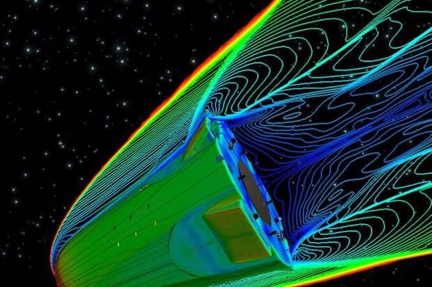 Заблуждение: входящий ватмосферу космический корабль нагревается оттрения