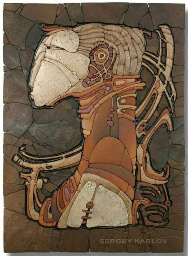 Каменная мозаика и сфинксы