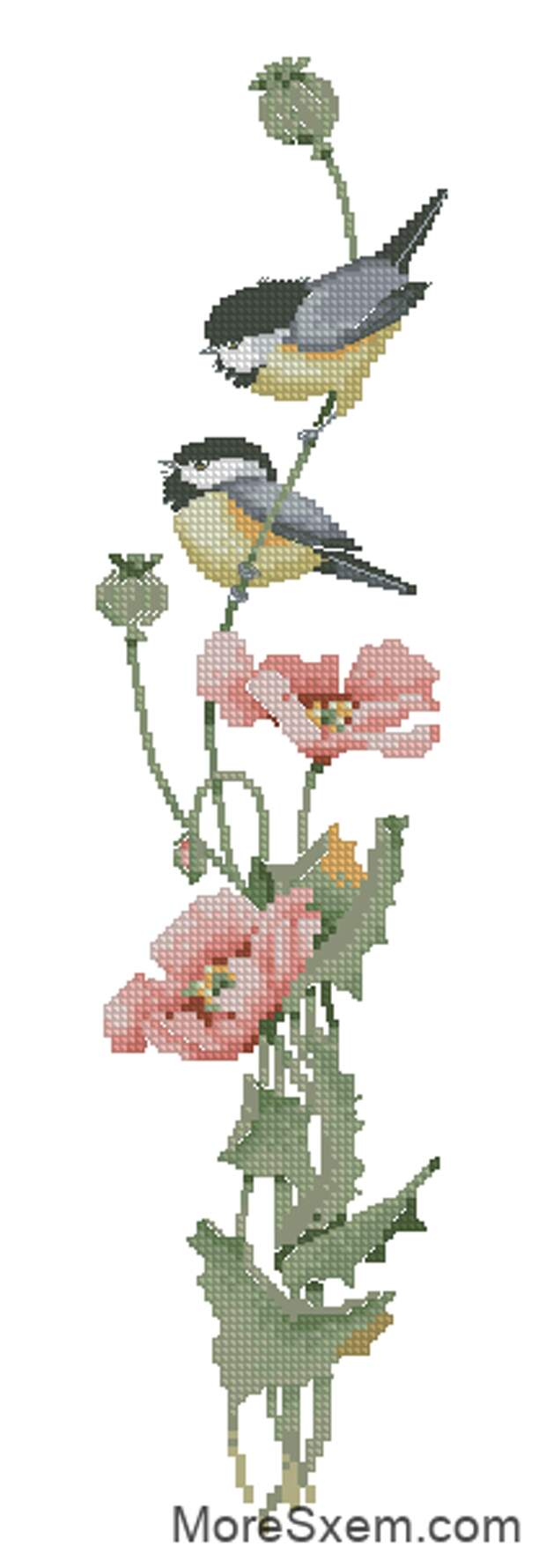 Птички с маком