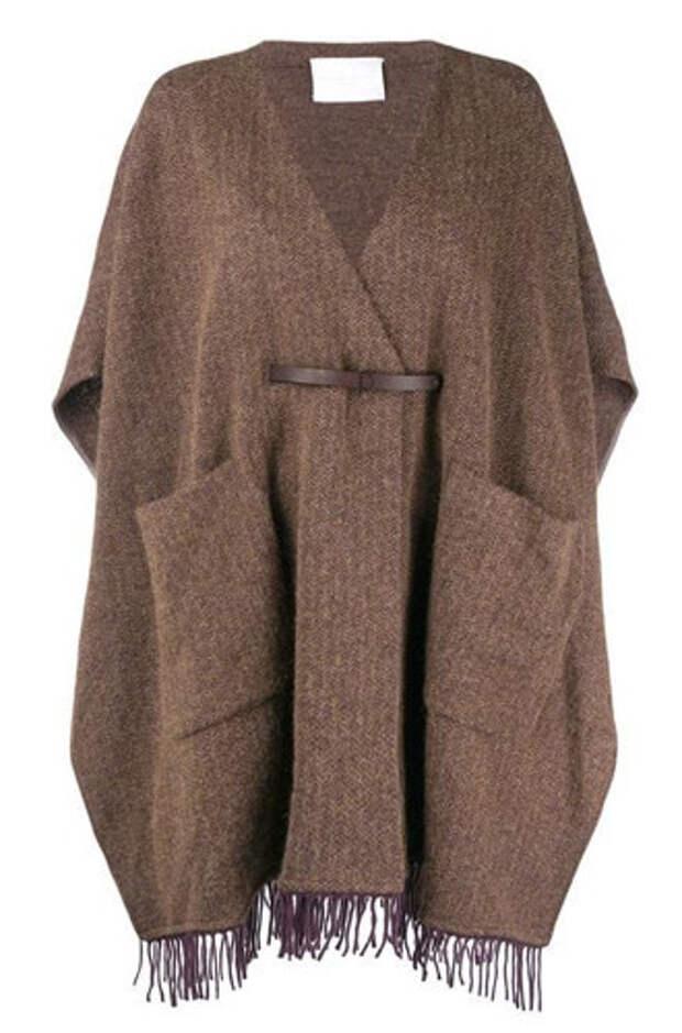 Модная альтернатива пальто — кейп и пончо