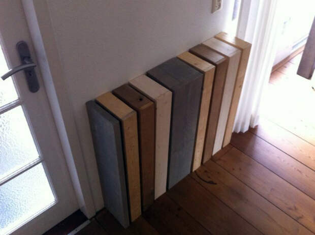 Разноцветный деревянный короб. | Фото:Muebles Salon.