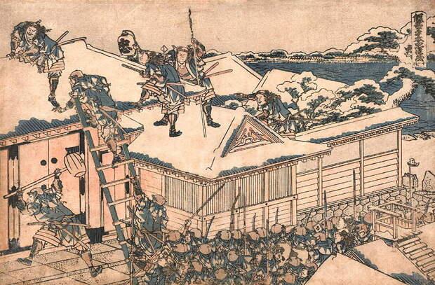 47 ронинов атакуют усадьбу Киры. <br>