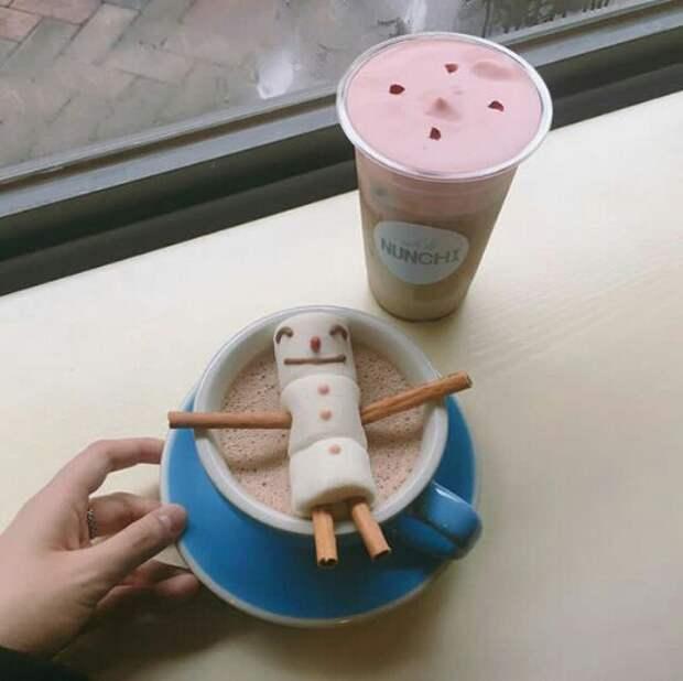 Снеговик для кофе