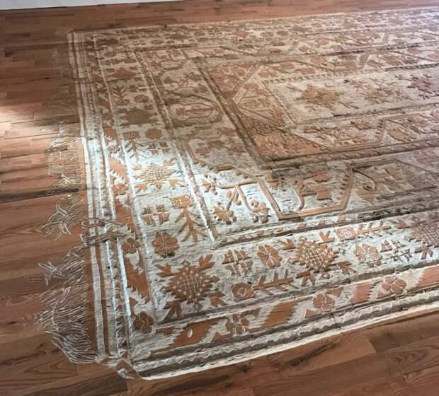 Шикарный деревянный ковёр