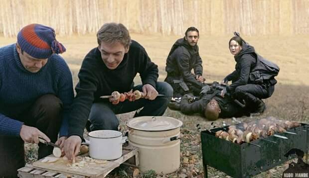 Встреча Голливуд исоветской классики кино в15 смешных коллажах