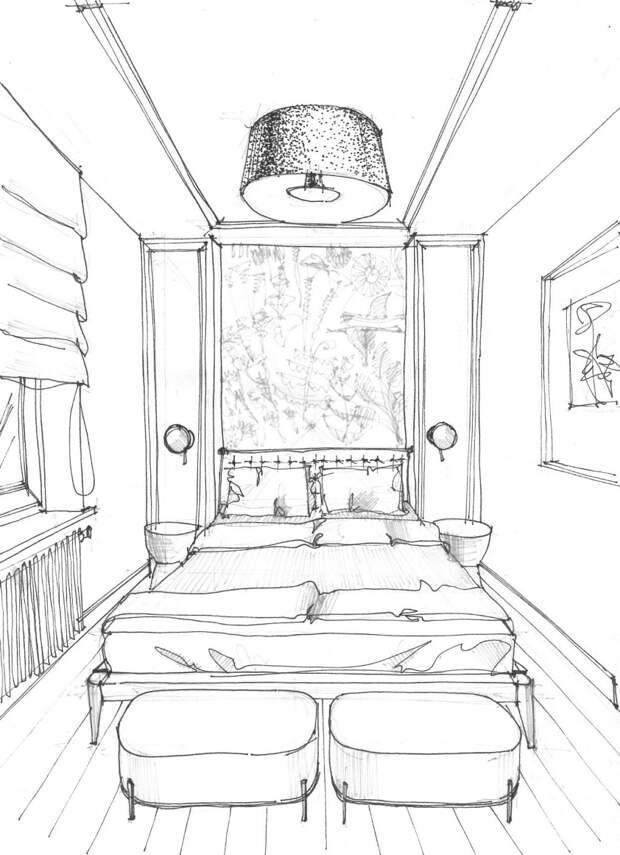 """Тяжелыйслучай: дизайнеры показывают варианты планировки """"неудобной"""" спальни"""