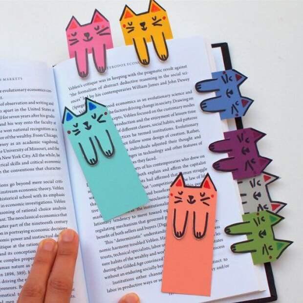Закладки из цветного картона