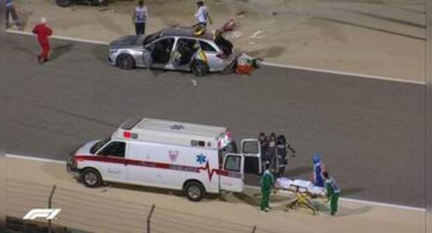 Авария на «Формуле-1»: Болид Ромена Грожана полностью сгорел