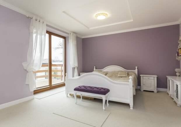 покраска комнаты в два цвета