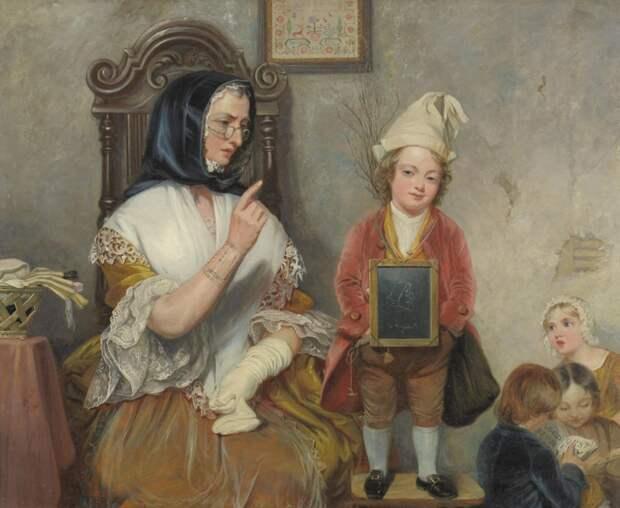 Школа, учителя и ученики на полотнах старых мастеров