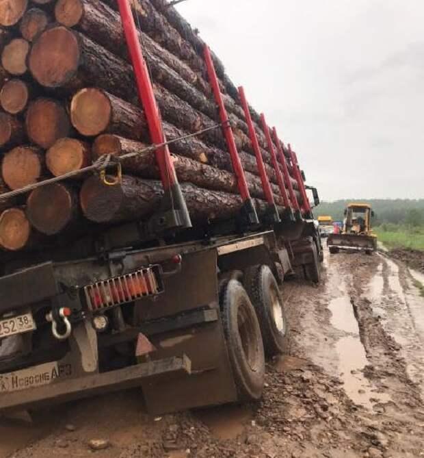 На автодороге Жигалово – Казачинское ограничили проезд для грузовиков