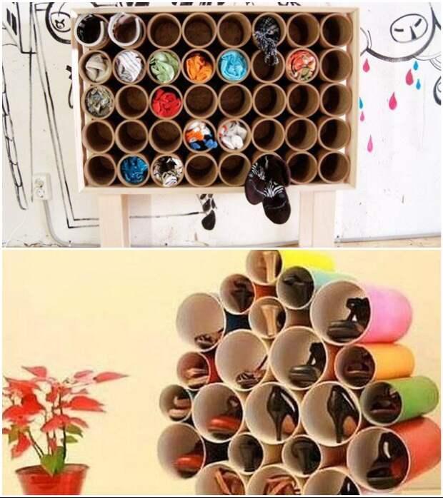 Трубы ПВХ нужного диаметра вдохновляют на создание очень практичного арт-объекта.