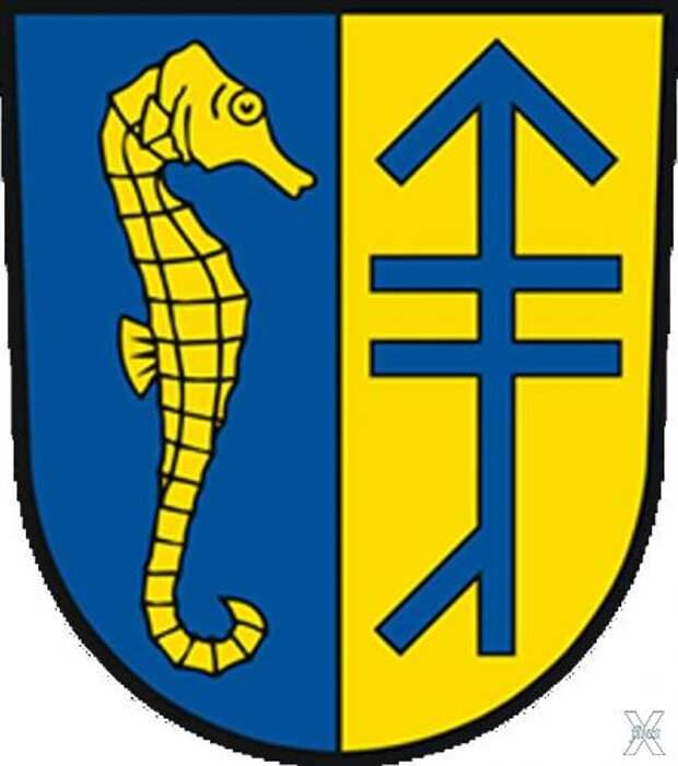 Герб коммуны Вальрас Плаж в Руссильоне