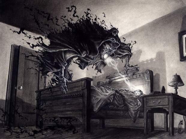 Ночные кошмары вредят энергетике человека