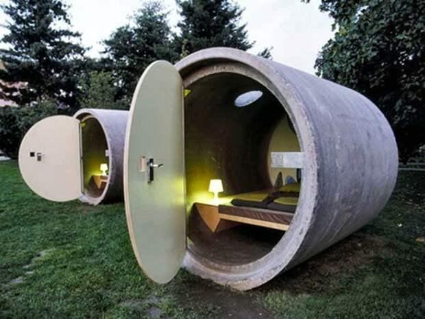 Самодельный дом из бетонных колец