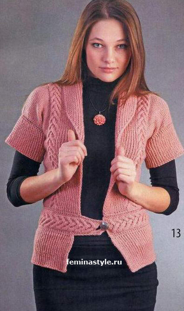 Вязание спицами жакета