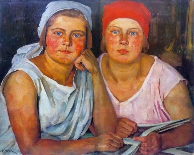 Советские красавицы. Все особенности жизни страны отразились в картинах, написанных в тот период.