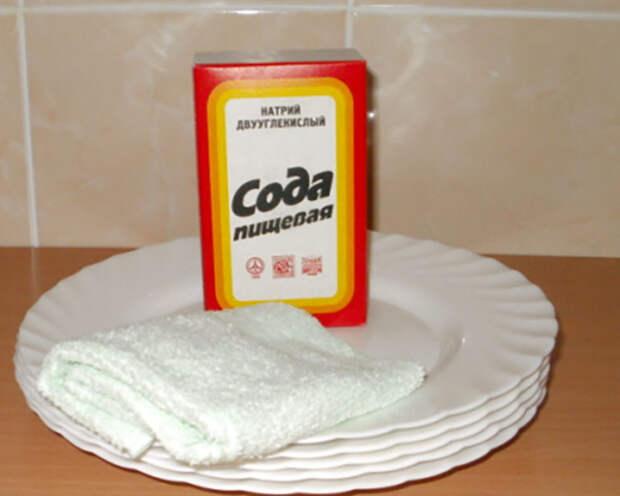 Пищевая сода для мытья посуды