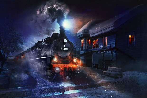 Картинки по запросу train dans la neige