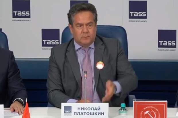 На ТАСС прошла пресс-конференция КПРФ, где кроме Зюганова приняли участие Платошкин и Бондаренко