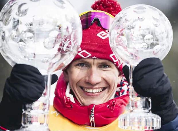 Призовые: наш король лыж Большунов заработал за второй победный сезон подряд почти в 3 раза больше норвежца Клебо