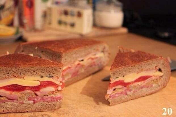 Здесь 10 слоев, не считая хлеба вкусно, еда, красота, многослойное, необычно, пироги. мясо