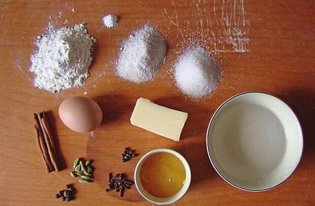 Ингредиенты для пряничного теста