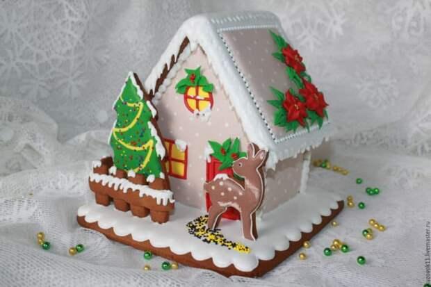 Новогодний пряничный домик