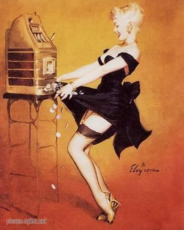 Эротика  вековой  давности. Плакаты в стиле Пин-ап