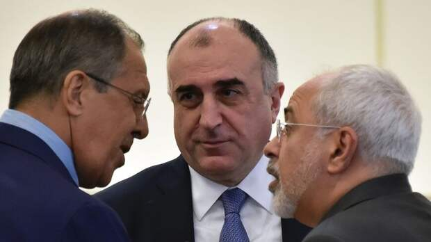 Russian, Azerbaijani and Iranian foreign ministers